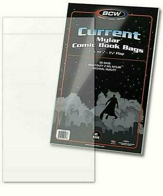 BCW Current Mylar Comic Book Bags 2 Mil Thick 50 Pack • 24.95£