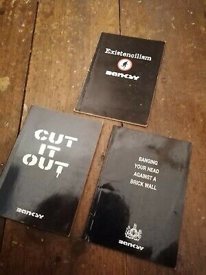 Banksy Book Set - Cut It Out. Existencilism. Banging Your Head Against A... • 77£