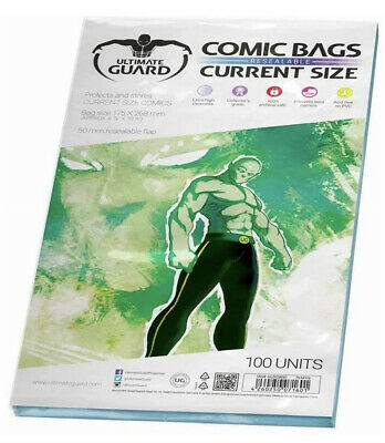Comic Bags Resealable (Current Size, Pack Of 100) • 7.99£