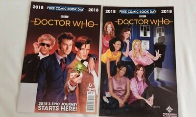 Doctor Who Free Comic Book Day 2018, 2 Covers • 2.90£