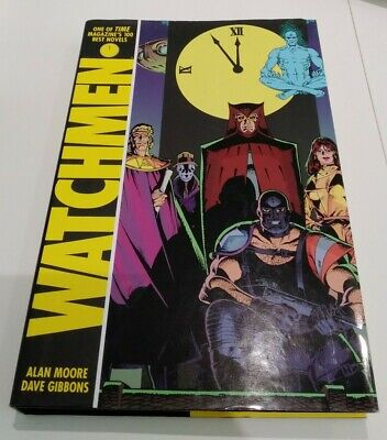Watchmen By Alan Moore And Dave Gibbons. Hardback. Signed By Gibbons. • 5£