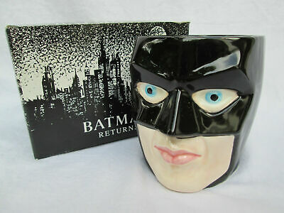BATMAN RETURNS Applause Batman Character Mug Michael Keaton 1991 NEW • 25£