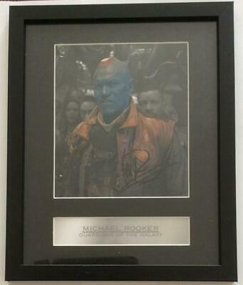 Michael Rooker Guardians Of Galaxy Signed Photograph In Frame. • 45£
