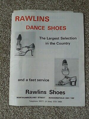 Original RAWLINGS Dance Shoes Catalogue With Price List And Original Order Form • 2.50£