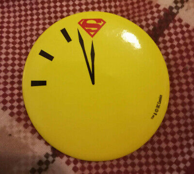 Doomsday Clock Pin Badge Watchmen Superman Promo New 52  • 0.99£