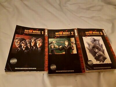 Battle Royale Manga Vol 1, 2 & 3 • 5.99£