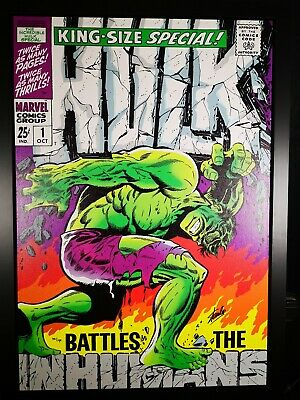 The Hulk King-Size Special #1 - Stan Lee Signed Marvel Boxed Canvas Art Print • 1,200£