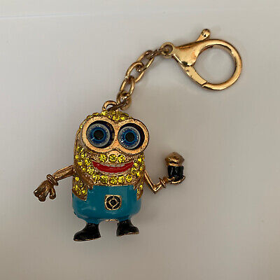 Dispicable Me Minion - Gold Moving Keychain - Novelty Stocking Filler • 4.99£