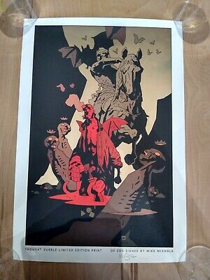 Mike Mignola: Rare Signed Limited Edition Print! Hellboy: Only 200 Printed! • 100£