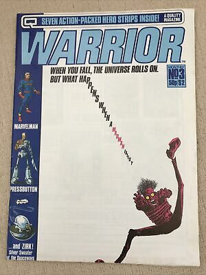 Warrior #3 Quality July 1982 • 4.99£