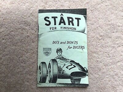 BRDC Booklet, A Start For Finishers .Do's And Don'ts For Dicers 1950's • 4.99£