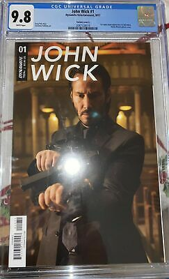 JOHN WICK #1 COMIC CGC 9.8 KEANU REEVES PHOTO COVER VARIANT • Dynamite • 100£