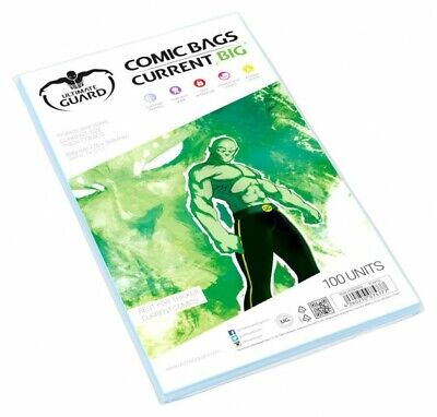 Ultimate Guard Pack 100 Pockets Comics Current Big 178x268mm Comic Bags 75777 • 21.73£