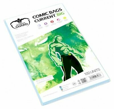 Ultimate Guard Pack 100 Pockets Comics Current Big 178x268mm Comic Bags 75777 • 21.40£