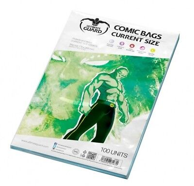 Ultimate Guard Pack 100 Pockets Comics Current Size 175x268mm Comic Bags 71670 • 17.85£