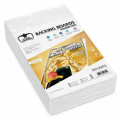 Golden Size Protects Comic Back (White) 193X266mm Ultimate Guard 100 Units New • 25.38£