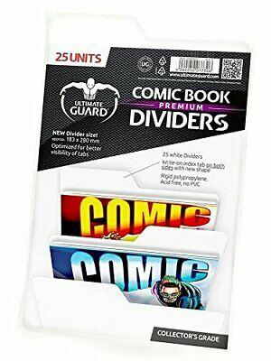 Ultimate Guard Premium Comic Book Dividers Set Of 25 White New • 24.76£