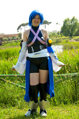 Aqua Kingdom Hearts Cosplay (ONLY Side Skirt, Corset And X Accessories). • 44.95£