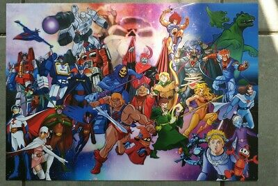 He Man Transformers Thundercats Battle Of The Planets And Other Cartoons Poster • 10£