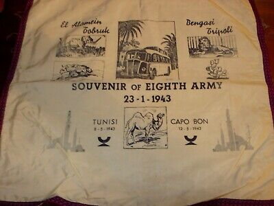 Eighth Army Souvenir From North Africa Campaign 1943 • 18£