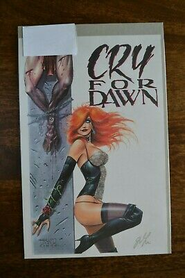 Cry For 'Dawn' SIGNED By Joseph Linsner (Artist And Creator) 1990 • 60£