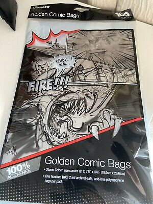 Ultra Pro 100 Pockets Comics Golden Size 19,6 X 26,6 Cm 819774 • 0.99£