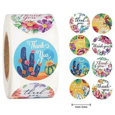 500labels/Roll Handmade Thank You Stickers Wedding Label Flowers Birthday P4J0 • 2.69£