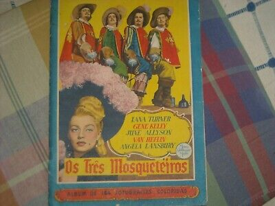 GENE KELLY JUNE ALLYSON LANA TURNER PORTUGAL STICKER ABUM 50'S Three Musketeers  • 45£