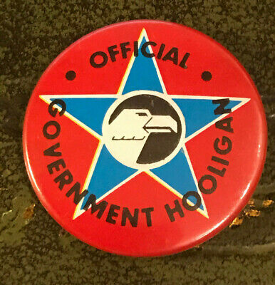 Vintage 2000AD Pin Badge - Official Government Hooligan - NEW - RARE • 2.99£