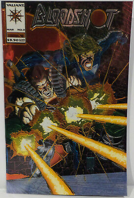Bloodshot : Bloodshot #o. March 1994 By Valiant Gold Chromium Cover • 160£