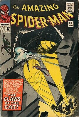 AMAZING SPIDER-MAN # 30 / 1965 V.GOOD / 1st APPEARANCE OF THE CAT. • 39.99£