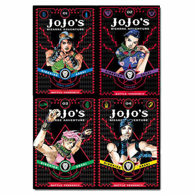 JoJo's Bizarre Battle Tendency Vol 1-4  Adventure Part 2 Collection 4 Books Set  • 34.99£