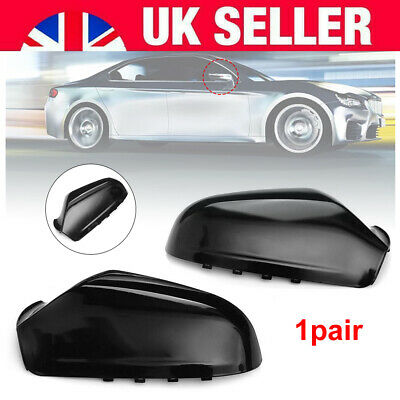 Pair Gloss Black Side Wing Mirror Casing Cover Cap For Vauxhall H MK5 2004-2009 • 13.34£