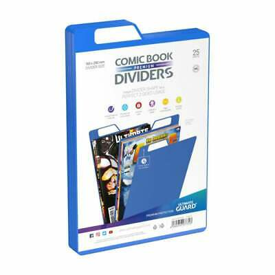 Ultimate Guard Premium Comic Book Dividers | Blue | Pack Of 25 Storage Filing • 12.95£