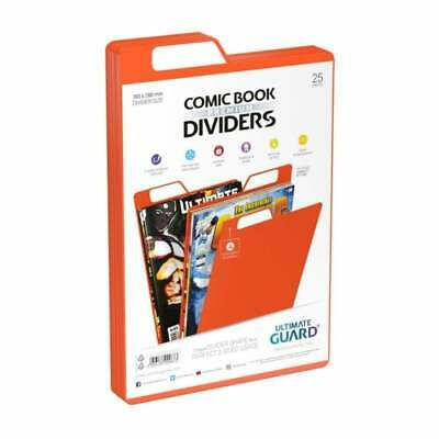 Ultimate Guard Premium Comic Book Dividers | Orange | Pack Of 25 Storage Filing • 12.95£