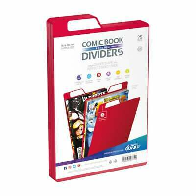 Ultimate Guard Premium Comic Book Dividers | Red | Pack Of 25 Storage Filing • 12.95£