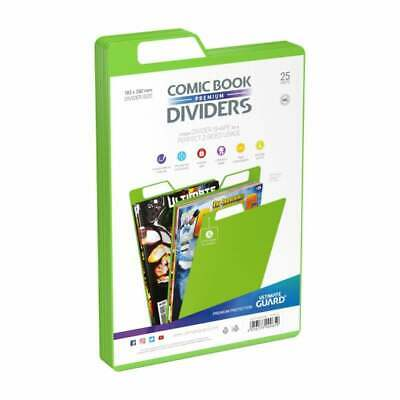 Ultimate Guard Premium Comic Book Dividers | Green | Pack Of 25 Storage Filing • 12.95£