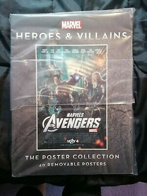 VF+ (2013) MARVEL HEROES & VILLAINS : Poster Collection (40 Posters) • 26.50£