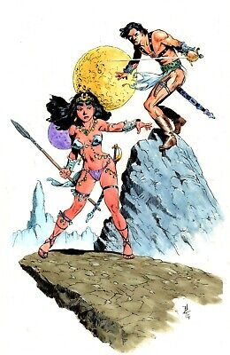 John Carter Illo #63 WATERCOLOR By Bo Hampton • 55.02£
