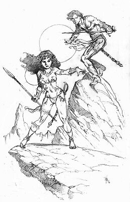 John Carter Illo #63 Pencil Version  By Bo Hampton • 36.68£