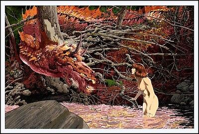 BERNIE WRIGHTSON YOU'RE NEW HERE Variant Limited Edition Print Glow Dark 20x30 • 238.57£