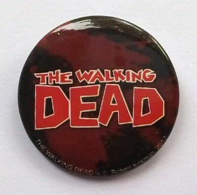 Image - The Walking Dead Official Comic Logo Promotional Button Badge Brand New • 1.95£