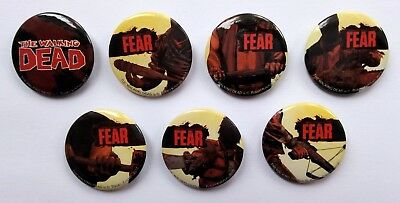 Image - The Walking Dead Logo Promotional Button Badge Set Of 7 Badges - New • 3.95£