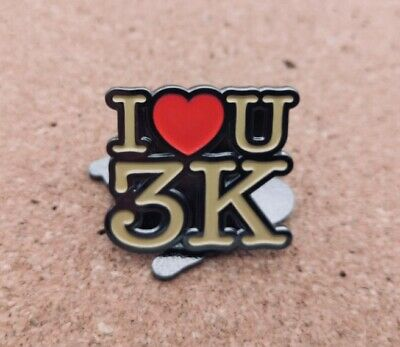 """I Love You 3K"" Pin Free P&P • 6£"