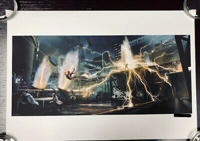 Spider-man Electro Concept Art Poster Print LE Limited Edition X/30 Marvel RARE • 127.42£