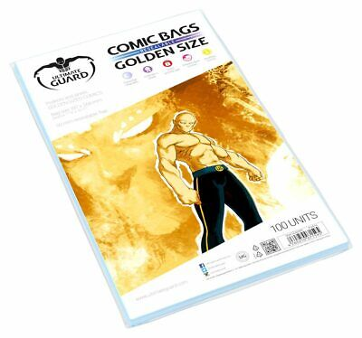 Ultimate Guard Comic Bags Wiederverschließbar Golden Size (100) • 10.76£