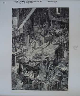 FRANKENSTEIN A FILTHY PROCESS BERNIE WRIGHTSON Limited Edition Print 16x20 Mint • 231.68£