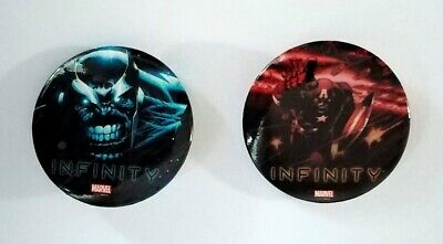 Marvel - Infinity Promotional Button Badges - Thanos / Captain America - New • 3.25£