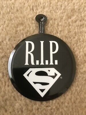 Death Of Superman DC Comics Promo Metal Badge 1992 - Rare HTF New Condition • 6.99£