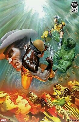 SOLD OUT Alex Ross Signed Death Of Wolverine Sideshow EXC Art Print X-Men Hulk • 107.28£